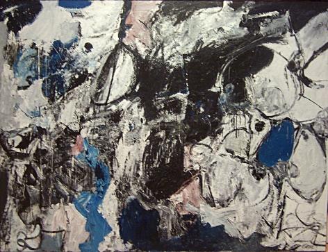 "NIcolas Carone, ""Spectre's Mourning Sleep,"" 1957, oil on canvas, 61 3/4 x 81 1/4 in."