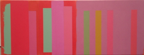 Untitled, 2002, acrylic on canvas, 14 x 36 in.