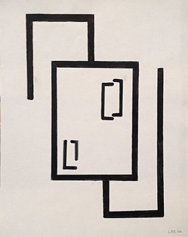 Untitled, 1946, ink on paper, 17 1/4 x 13 5/8 in.