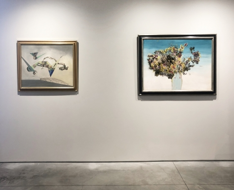 (From Left)Araignée, c.1944-45, oil on canvas, 30-1/4 x 40 in.,Medisance de l'air, 1947, oil on canvas, 25 x 30 in.
