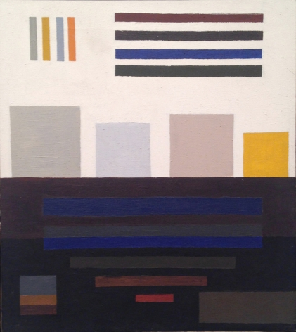 """""""Paradox #10 Chiaroscuro,"""" 1968, oil on canvas, 18 x 16 inches"""