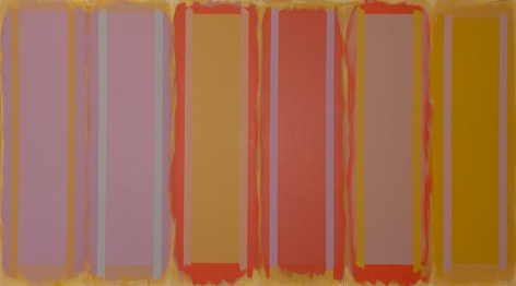 Parade Rest, 1996, acrylic on canvas, 68 x 138 in.