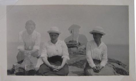 Couples (Double Exposure), 1920s, 4 1/2 x 3 3/4 in.