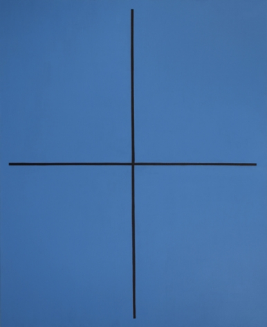 Event in Blue, 1994, oil on canvas, 66 x 54 in.