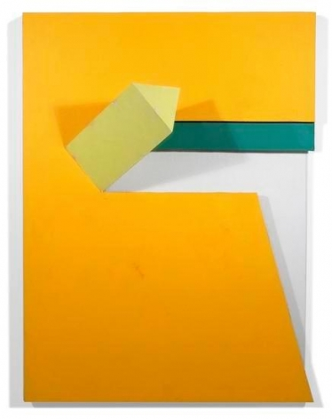 Stanton, 2008, acrylic on non-woven acrylic fiber on wood with plexiglass, 40 x 30 x 10 in.