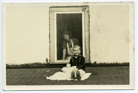 Woman at Window, 1930s, 5 14/16 x 3 15/16 in.