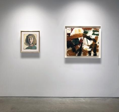 """No. 6 (From left) ELAINE DE KOONING, """"Self Portrait,"""" 1944, oil on board, 13 1/2 x 11 3/8 in."""