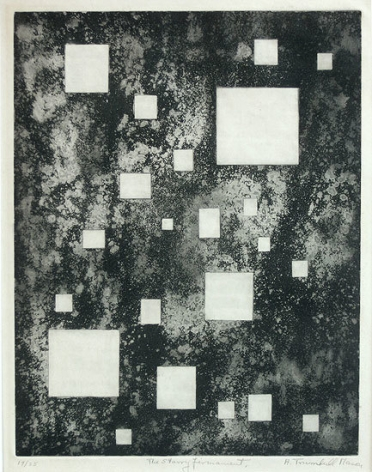 Starry Firmament, 1954, etching, ed. 25, 13 1/2 x 10 3/4 in.