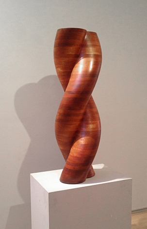 "Jack Youngerman, ""Gemini,"" 1994, mahogany, 36 x 11 1/2 x 7 in."