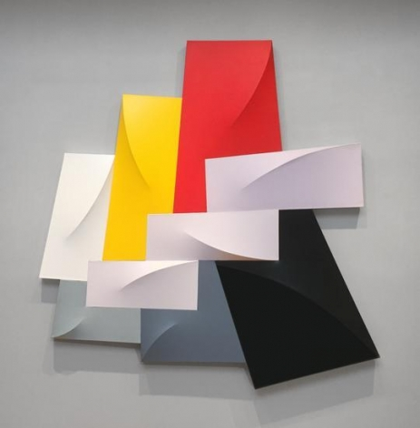 Megaripple, 1988, acrylic on canvas, 83 x 81 x 6 in.