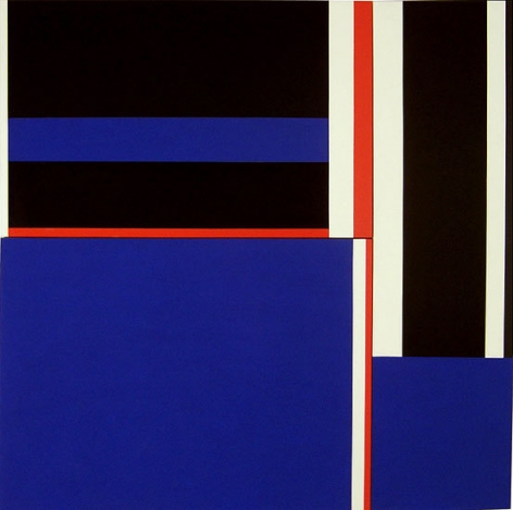 Blue Squares with Red, Black & White, 1980