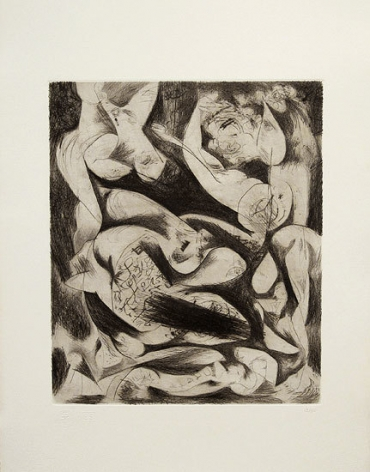 Untitled, CR1074 (P14), c. 1944, printed in 1967, engraving and drypoint on white Italia paper, ed. 13/50,