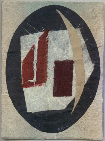 Untitled (no. 458), c. 1948-54, collage, 5 x 3 7/8 in.