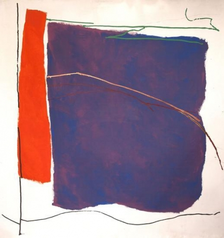 Ray Parker, Untitled (#653), 1982, oil on canvas, 89 x 86 1/2 in.