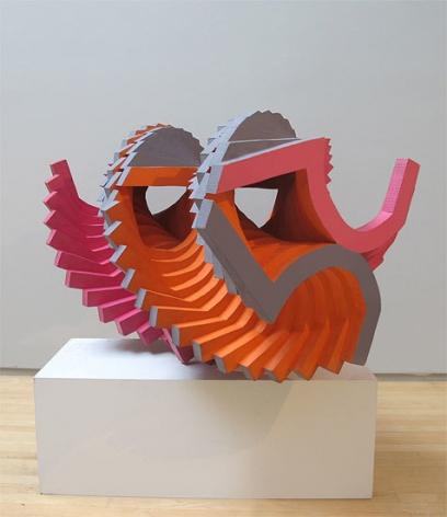 George Sugarman, Untitled, 1969, acrylic on wood laminate,              29 x 42 1/2 x 29 in.