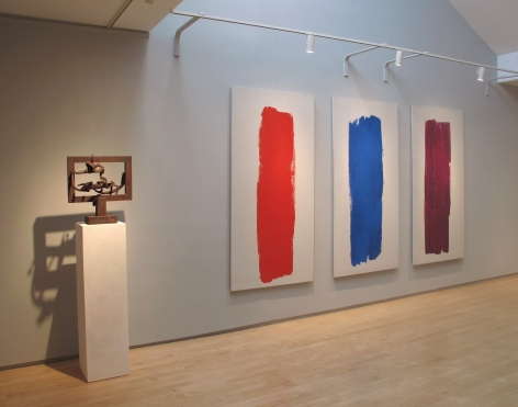 From Right to Left:, RAY PARKER (1922-1990), Untitled, 1963, Oil on canvas, Three panels: 74 x 36 in. each, Overall: 74 x 138 in.