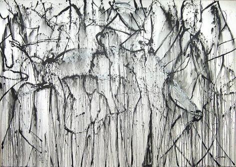 Shadow Dance, 2007, acrylic on canvas, 84 x 119 3/4 in.