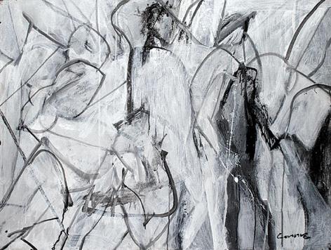 High Spirit, 2008, acrylic on tarpaulin, 30 x 40 in.