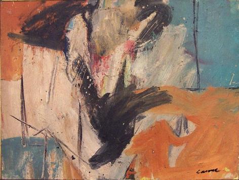 Nicolas Carone, Untitled, c. 1950s, oil on masonite, 19 1/2 x 26 in.