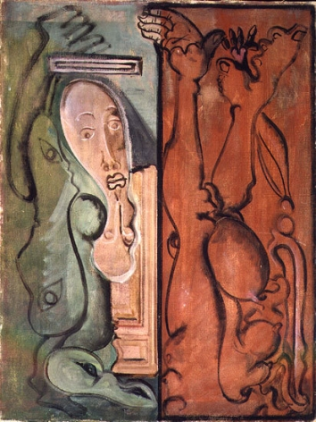 In Limbo, 1941-42, oil on canvas, 32 x 24 in.