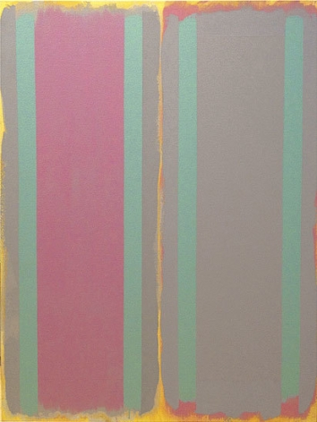 Gap Time, 1995, acrylic on canvas, 48 x 36 in.