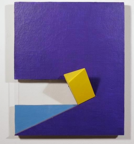 Wooster, 2008, acrylic on non-woven acrylic fiber on wood with plexiglass, 17 x 14 x 13 in. by Charles Hinman