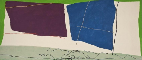 Untitled II, 1980, acrylic and oil on canvas, 92 x 216 in.