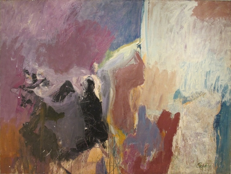 Untitled, c. 1957, oil on canvas, 77 x 96 in.