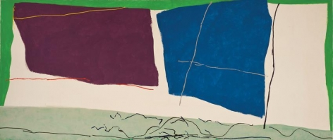 Ray Parker, Untitled II, 1980, oil and acrylic on canvas, 92 x 216 in.