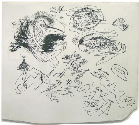 Untitled, c. 1943, pen and black ink on paper, 9 3/8 x 10 1/2 in. CR668