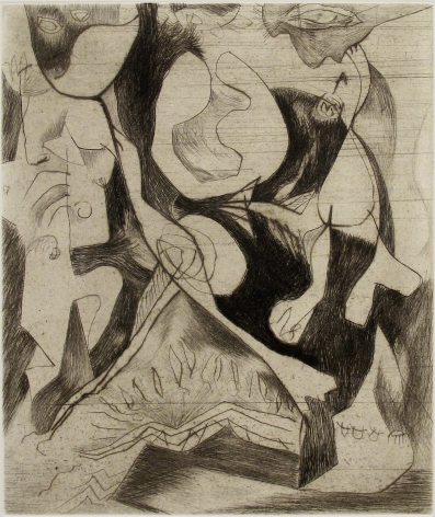 Untitled (CR#1071), c. 1944-45, printed posthumously in 1967, engraving and drypoint on white Italia paper, ed. 13/50, image: 11 7/8 x 9 15/16, sheet: 20 x 13 5/8 in.