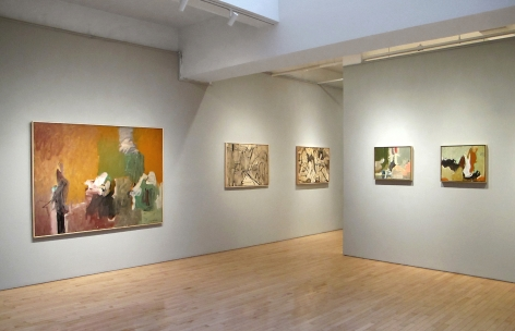 From Right to Left:, Untitled, 1952,Oil on paper mounted on panel,18 x 22 in.