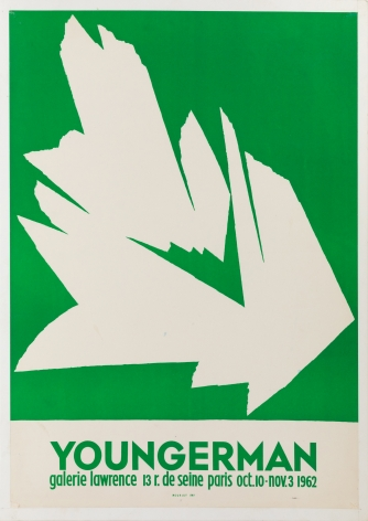 """Galerie Lawrence, """"Youngerman,"""" 1962"""