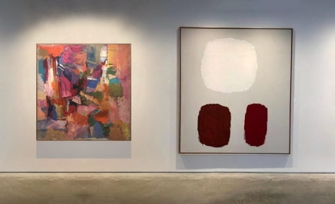 No.2 (From left) RAY PARKER, Untitled, c. 1954, oil on canvas, 51 x 51 in.