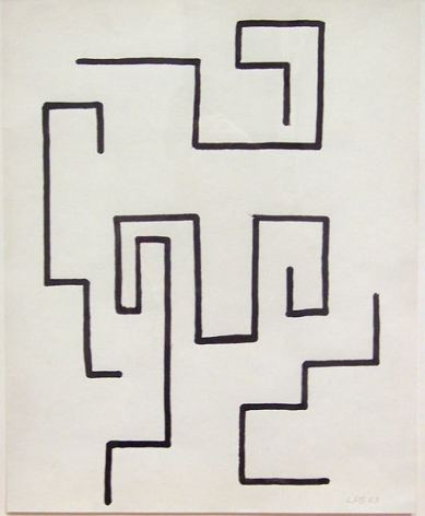 Untitled, 1946, gouache on paper, 40 x 25 1/2 in.