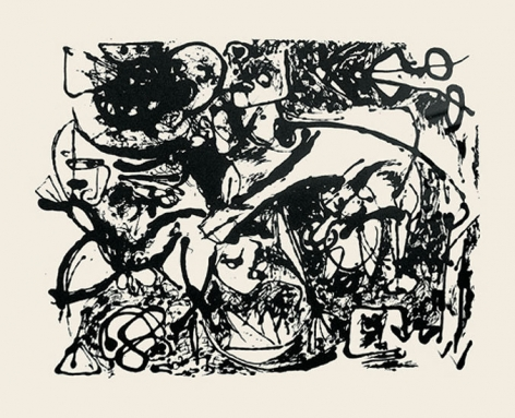 Untitled, CR1092 (After painting Number 8, CR327), 1951 (Printed from original screen in 1964), screenprint, 23 x 29 in.