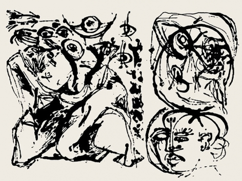 Untitled, CR1096 (After painting Number 27, CR328), 1951 (Printed from original screen in 1964), screenprint, 23 x 29 in.