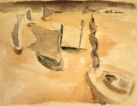 Untitled (Water Scene), c.1934, watercolor on paper, 15 x 19 in.