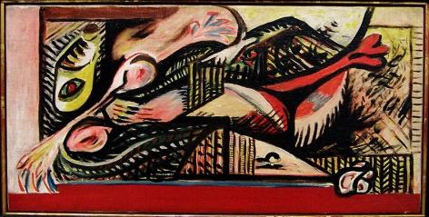 Jackson Pollock, Reclining Woman, c. 1938-41, oil on canvas