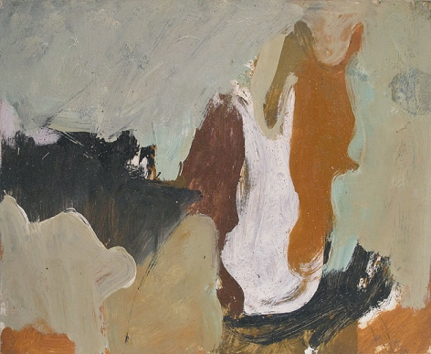 Untitled, 1953, oil on paper mounted on panel, 18 x 22 in.