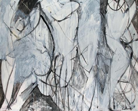 Social Phobia, 2009, acrylic on canvas, 75 x 94 in.
