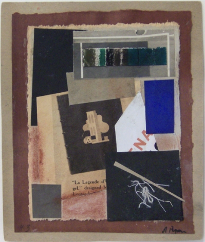 Untitled (no. 3), c. 1948-54, collage, 5 5/8 x 4 5/8 in.