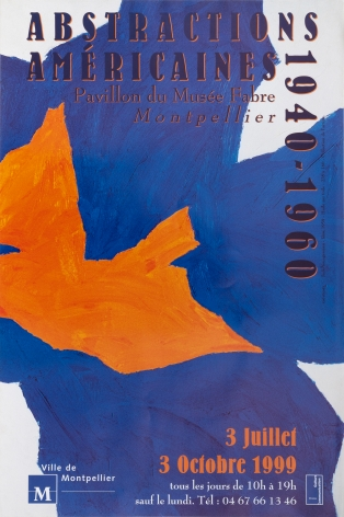"""Pavilliondu Musee Fabre, """"Abstractions Americaines 1940-1960,"""" 1990"""