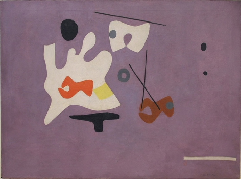 "Ilya Bolotowsky, ""Colbalt Violet,"" 1938, oil on canvas, 30 x 40 in."