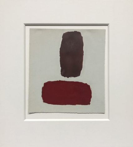 Untitled, c. 1960, oil on paper, 8 3/8 x 7 5/8 in. $6,500