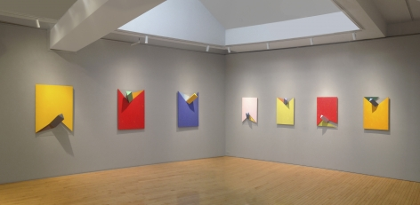 From Right to Left:, Crosby, 2008, Acrylic on non-woven acrylic fiber on wood with plexiglass, 30 x 22 x 8 in.