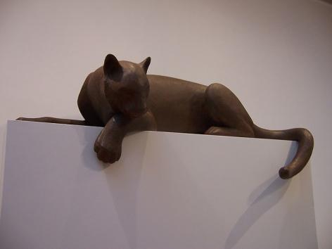 Cougar I, 2003, bronze, ed. AC1, 20 x 60 x 24 in.