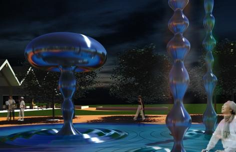 Kissimmee Raindrop Fountains