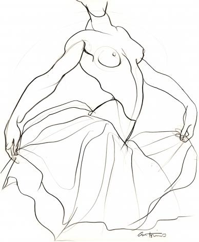 Female Dancer by Antonio Lopez