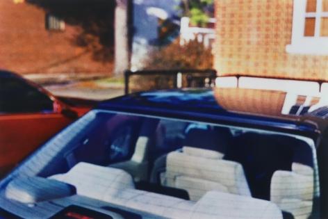Blue car by William Eggleston